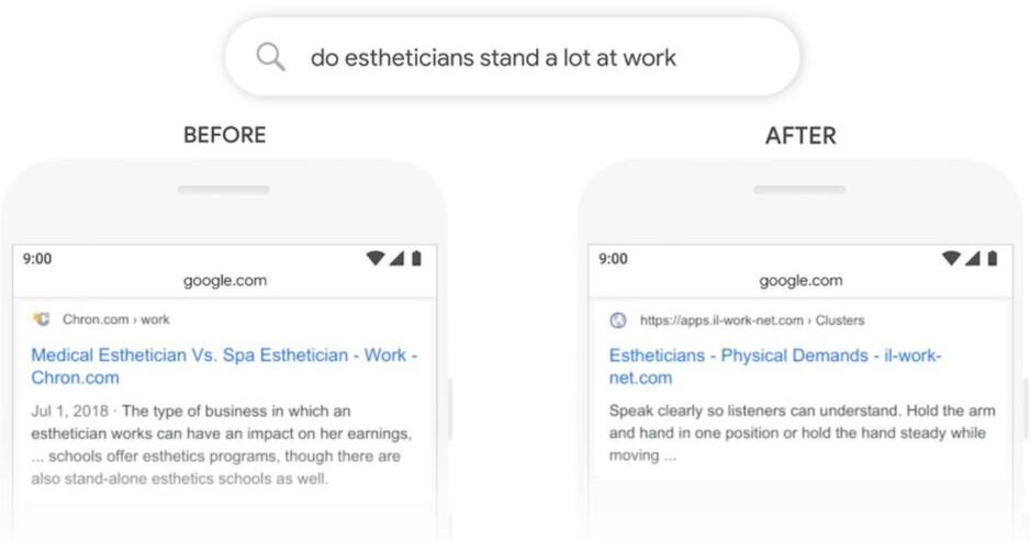Understanding the context of one word can make a difference in the results served up by Search - Change to Google Search will provide more useful answers