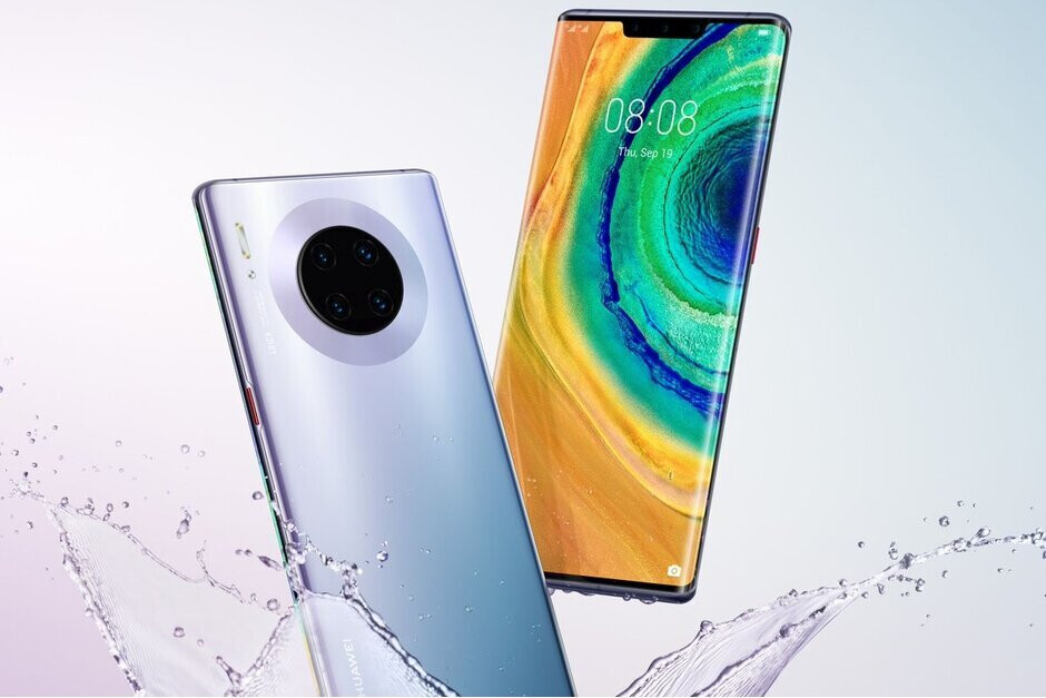 The Huawei Mate 30 Pro, the company's current flagship phone - Huawei filed the most patent applications last year, but most were not innovative