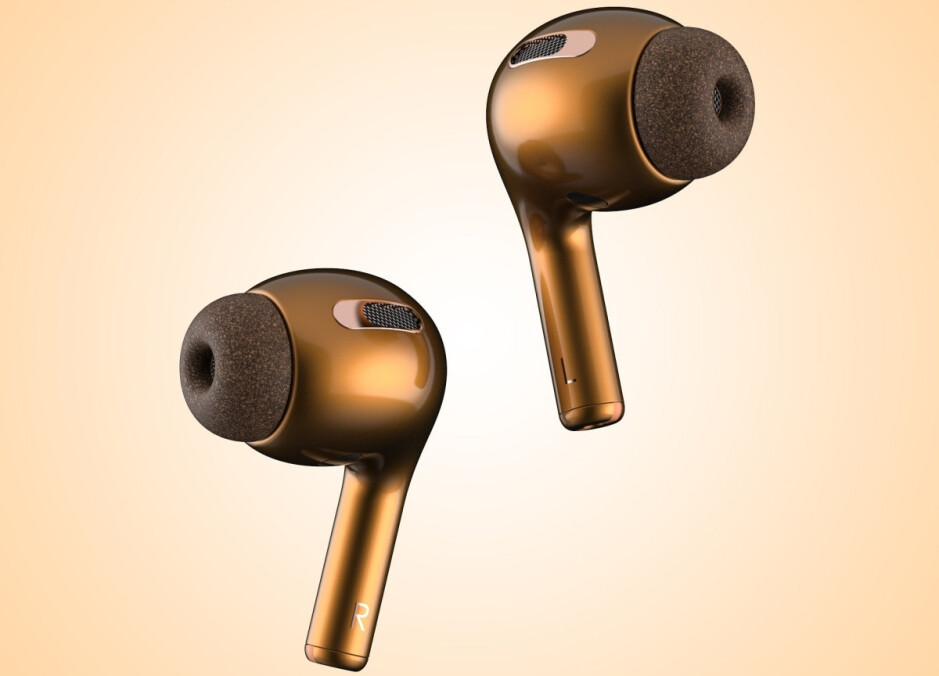 Gold AirPods Pro concept render from @PhoneIndustry_ - Apple AirPods Pro expected to 'focus on' noise reduction, waterproofing, and new colors