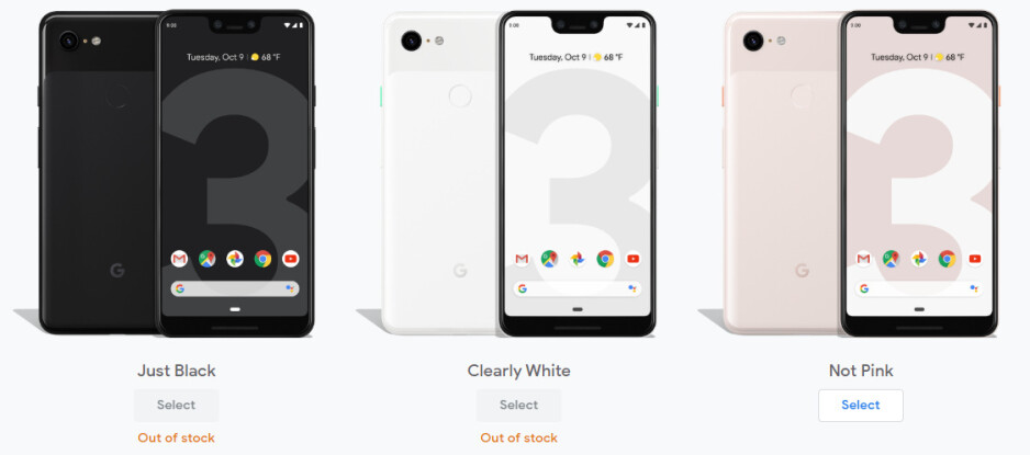 Now that the Pixel 4 is here, almost all Pixel 3 and 3 XL models are out of stock at Google