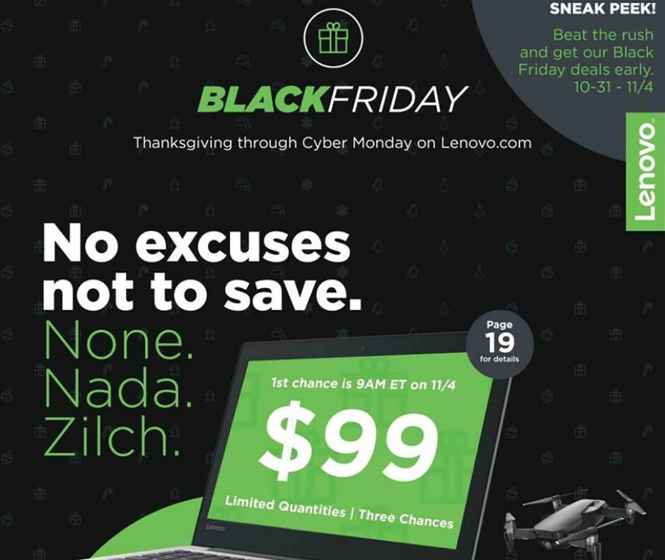 Lenovo's Black Friday 2019 deals will include massive discounts on tablets, laptops, and smart home devices