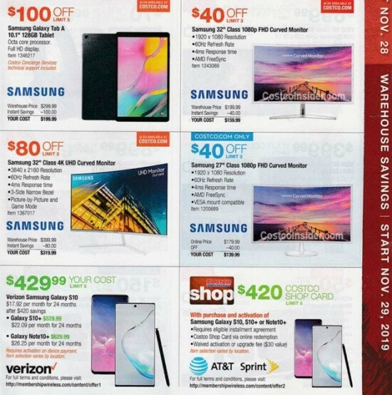 Costco has killer Galaxy S10, Note 10+, and Surface Pro 7 deals in store for Black Friday