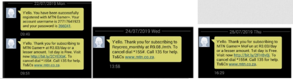 Text messages verifying unauthorized subscriptions sent from the victim's phone - Android users must uninstall this app immediately or risk getting ripped off