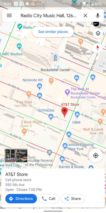 Rockefeller Center merits the larger icon indicating that it is an important historical landmark in New York City - Google Maps update will help you find historical landmarks in major cities