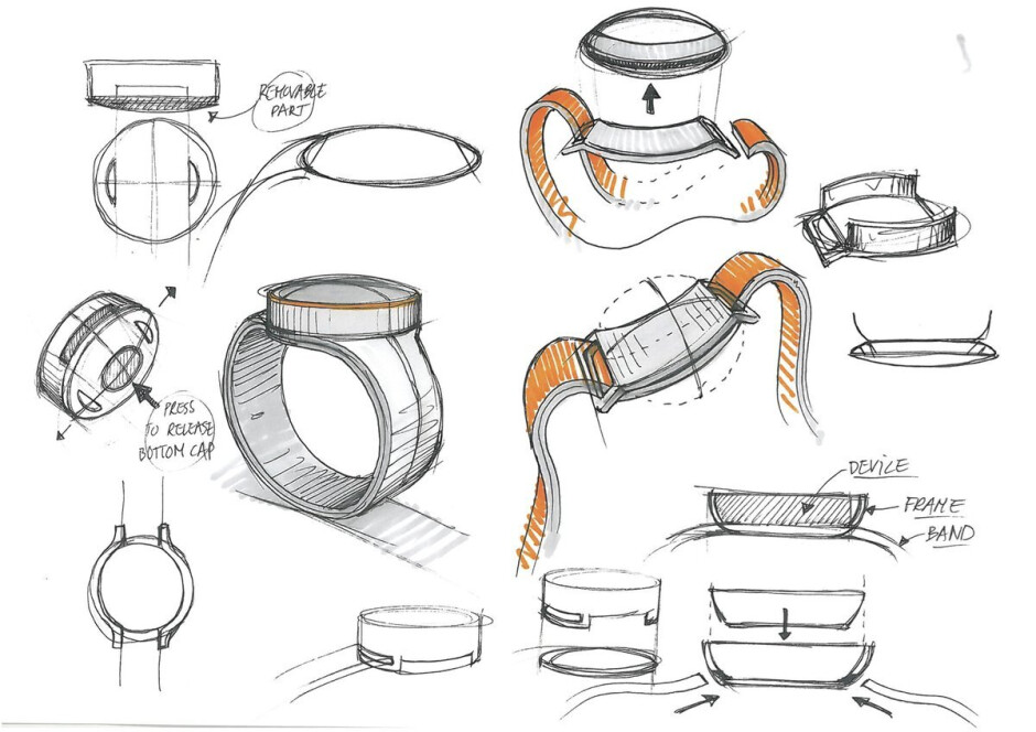 Sketches of the abandoned OnePlus Watch, 2016 - Time to settle: OnePlus Watch coming sooner than we thought