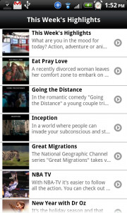 Comcast's Xfinity app for Android allows remote DVR set-up and shows On-Demand listings