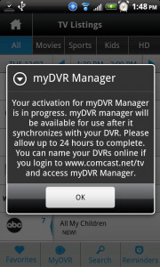 Comcast's Xfinity app for Android allows remote DVR set-up ...