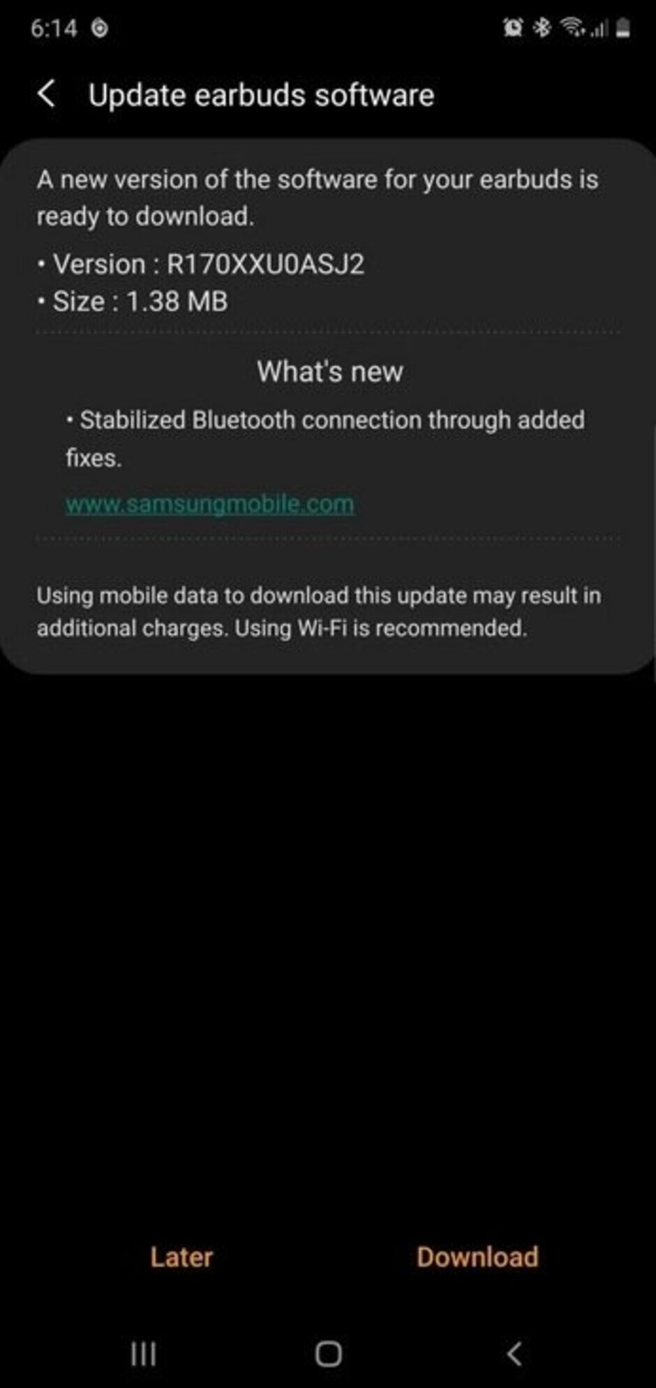 Samsung Galaxy Buds owners have received an update - Samsung's Galaxy Buds receive update to improve Bluetooth connectivity