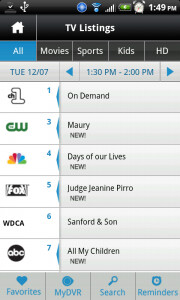 It takes 24 hours to get the Comcast Xfinity app to sync with the set top box at home; once done, you can remotely set your television to record the shows you want to see - Comcast's Xfinity app for Android allows remote DVR set-up and shows On-Demand listings