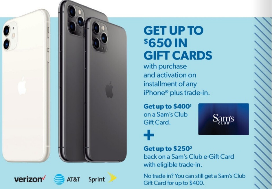 Sam's Club to offer up to $700 gift cards with early iPhone and Samsung Black Friday deal