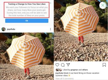 Instagram will test hidden Like counts in the U.S. - Instagram tests hiding