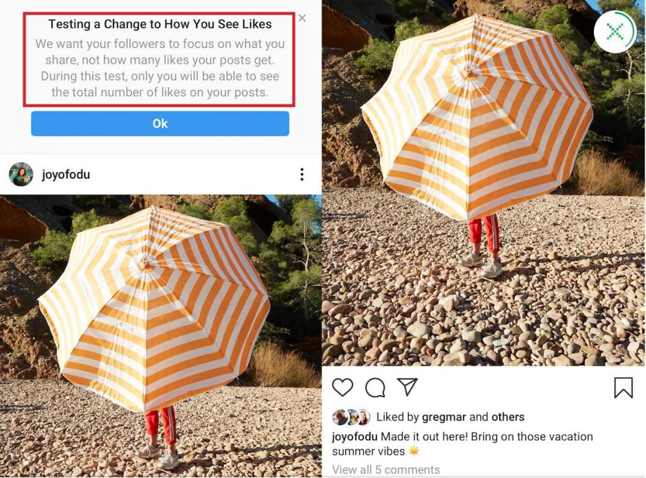 """Instagram will test hidden Like counts in the U.S. - Instagram tests hiding """"Likes"""" in the U.S. as influencers get nervous"""