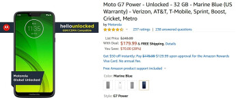Pick up the Moto G7 Power on sale at Amazon - Moto G7 Power and its huge battery on sale at Amazon