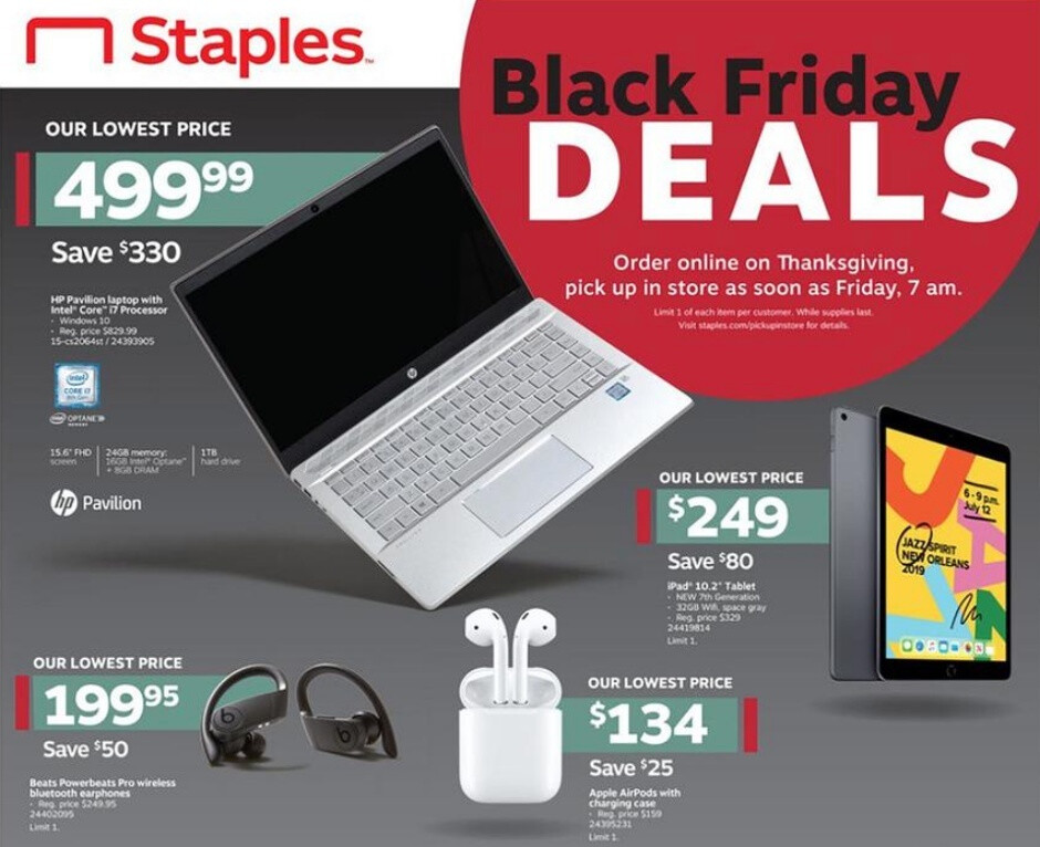Black Friday deals at Staples will include nice iPad, AirPods, and smart speaker discounts