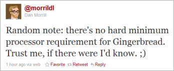 The tweet that launched a smile on the faces of Motorola DROID owners