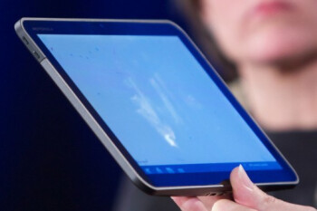 The front of the Motorola Everest tablet