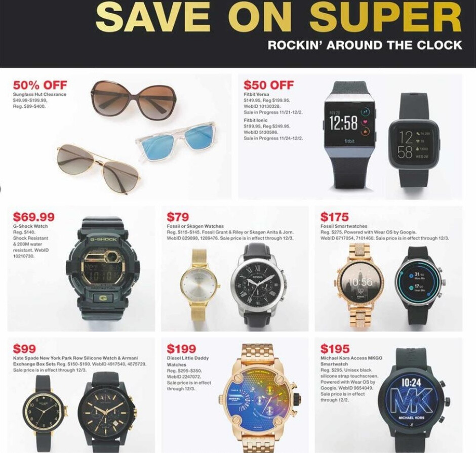 Macy's has a number of interesting smartwatch deals planned for Black Friday 2019