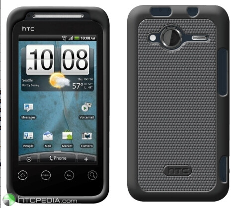 The HTC EVO Shift 4G in its funky new casing - HTC EVO Shift 4G shows up in full glory, running HTC Sense