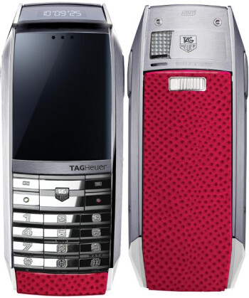 TAG Heuer Fuchsia MERIDIIST is the phone with water snake skin you'll probably never own