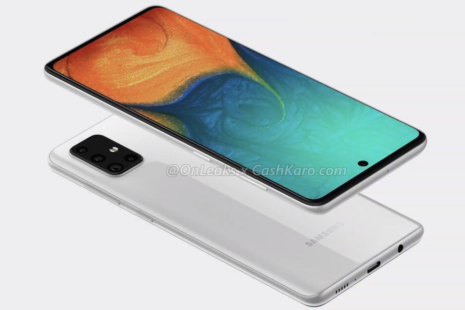 Quad-camera Galaxy A71 leaks with massive punch-hole display, headphone jack