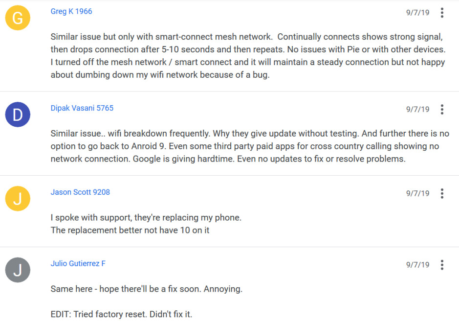 The Android 10 update has broken Wi-Fi and Bluetooth on some Pixel 2 devices - Update to Android 10 broke Wi-Fi and Bluetooth for some Pixel 2 users