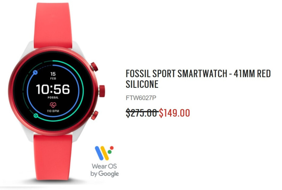 The Fossil Sport smartwatch can be purchased on sale for $149 - Smartwatch deal: Fossil Sport gets a huge price cut
