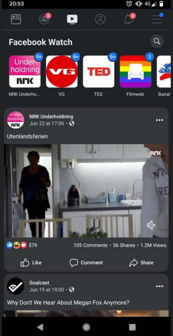 Facebook appeared in Dark mode for a Reddit user several months ago - Screenshot catches Facebook's Android app in Dark mode