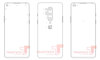 Alleged schematics of the OnePlus 8 on the left and the OnePlus 8 Pro on the right - OnePlus 8 and 8 Pro rumor review: design, specs, price and release date