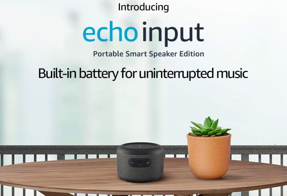 The Echo Input Portable comes with a modern fabric design and hands-free Alexa integration - Amazon releases its first portable smart speaker in years, but you can't have it in the US yet