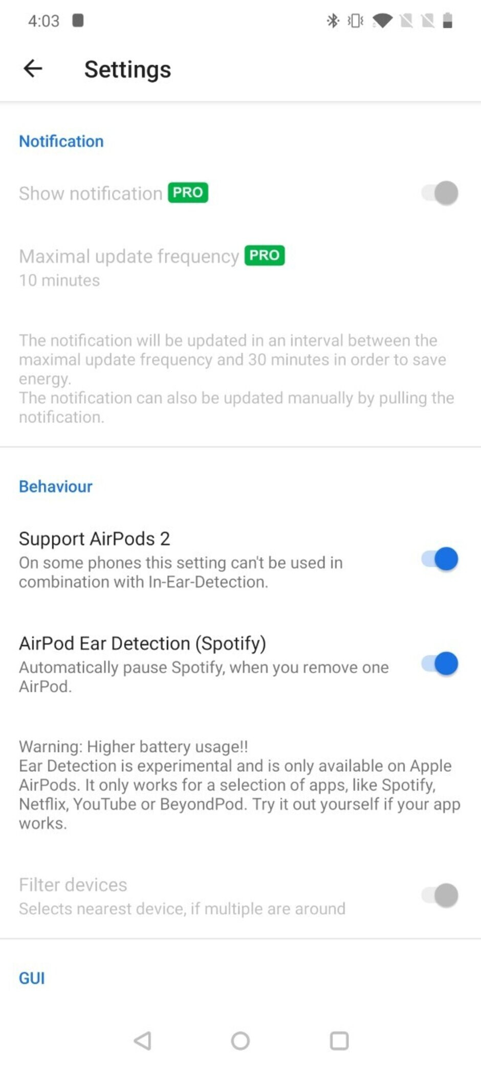 How to check AirPods Pro battery level on Android phones