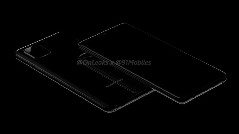 Early Galaxy Note 10 Lite renders corroborate square camera, S Pen support