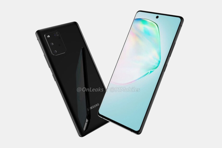 The Galaxy Note 10 Lite should cost less than the Galaxy S10 Lite - Early Galaxy Note 10 Lite renders corroborate square camera, S Pen support