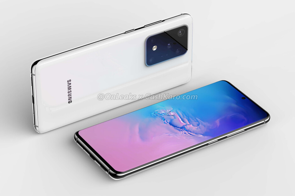 Samsung Galaxy S11+ CAD-based render - The Samsung Galaxy S11+ battery has leaked and it's massive