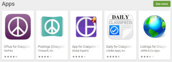 After one week, the official Android Craigslist app does not show up when searched for in the Play Store - Google fixes issue that kept new Android apps from being found in the Play Store