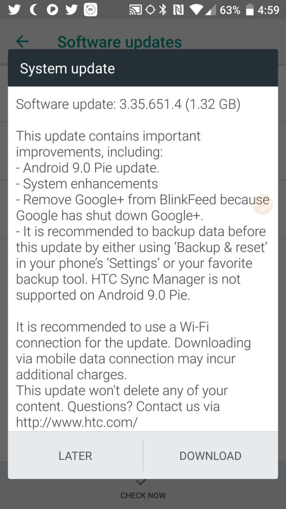 HTC U11 Android 9 Pie update - Sprint finally rolls out HTC U11 Android 9 Pie update