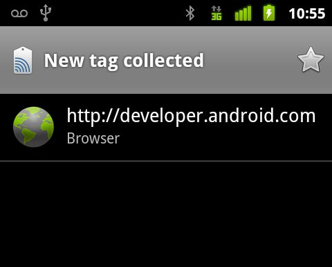 The Tags application - Android 2.3 Gingerbread new features
