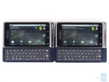 Motorola DROID 2 Global (right, top) and Motorola DROID 2 (left, bottom)