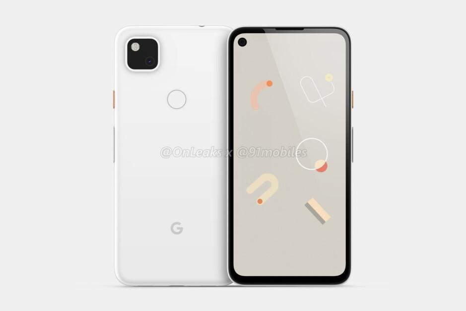 Google Pixel 4a CAD-based render - Massive Google Pixel 4a design leak reveals all, punch-hole display included