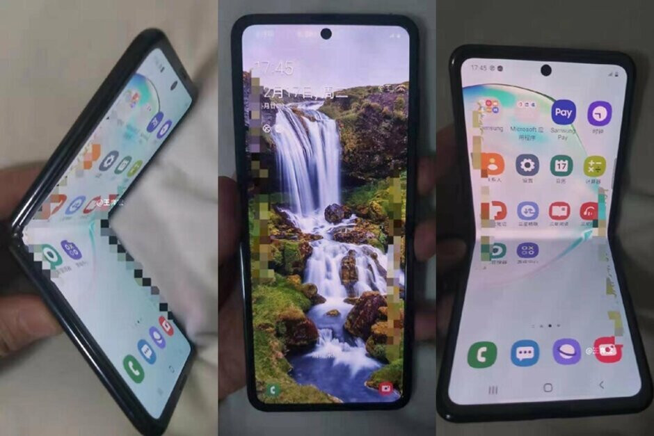 Leaked images of Samsung's early 2020 foldable phone - Samsung's next foldable phone could beat the Galaxy S11 to market