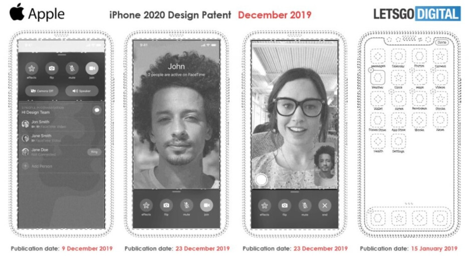 Patent illustrations show that Apple is looking to remove the notch from the high-end 2020 iPhone models - Apple could drop the notch and Face ID on the iPhone as soon as next year
