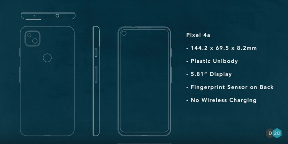 Pixel 4a specs according to computer reviewer David Lee - Hot rumor: Google to release just one mid-range Pixel model this year