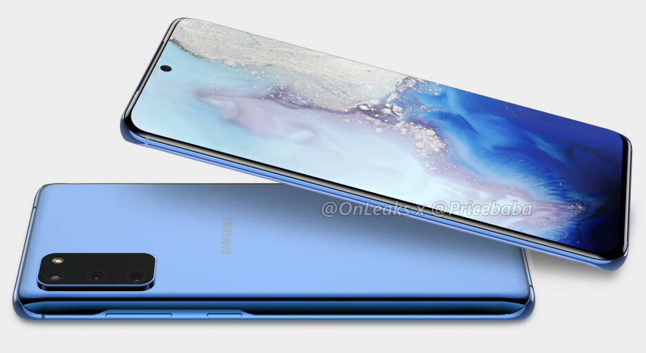 Samsung Galaxy S20 CAD-based render - The Samsung Galaxy S20 series will reportedly feature 120Hz displays