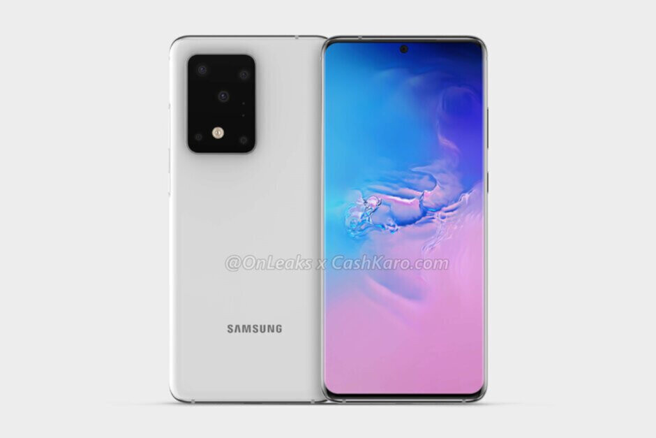 Render of the Samsung Galaxy S20 Ultra - Test firmware for Samsung Galaxy S20 Ultra drops a pair of highly anticipated features