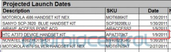 HTC A7373 (possibly the Knight/Shift 4G) set to be launched on January 9, 2011