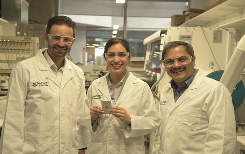 Part of the Monash University team working on the lithium-sulfur battery - Imagine using your phone for up to five days on a single charge