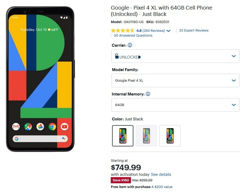 The Pixel 4 series is on sale at Best Buy - Take $150 off the Pixel 4 series at Best Buy and snag a $200 gift card