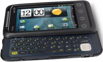 The HTC EVO Shift 4G adds a QWERTY keyboard, but does not offer a front facing camera