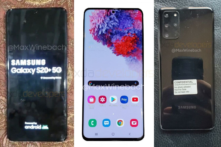 Samsung Galaxy S20+ live photos - All Galaxy S20 models could feature 12GB of memory as standard