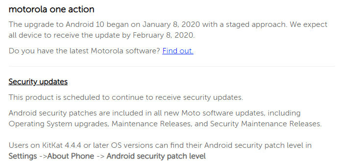 The second Android 10 update for a Motorola smartphone is now live