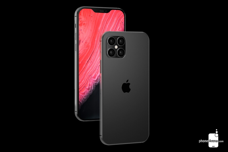 Concept renders of an iPhone 12 variant with four rear-facing cameras - New iPhone 12 leaks claim to reveal screen sizes, dimensions, and a cool new color